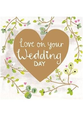 Card: Wedding Day - Coorie Doon