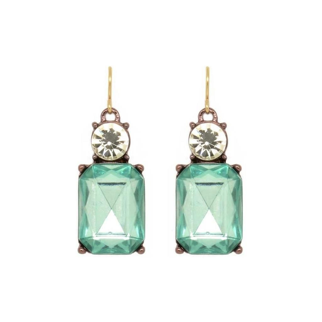 Last True Angel Pale Green/Clear Gem Earrings - Coorie Doon
