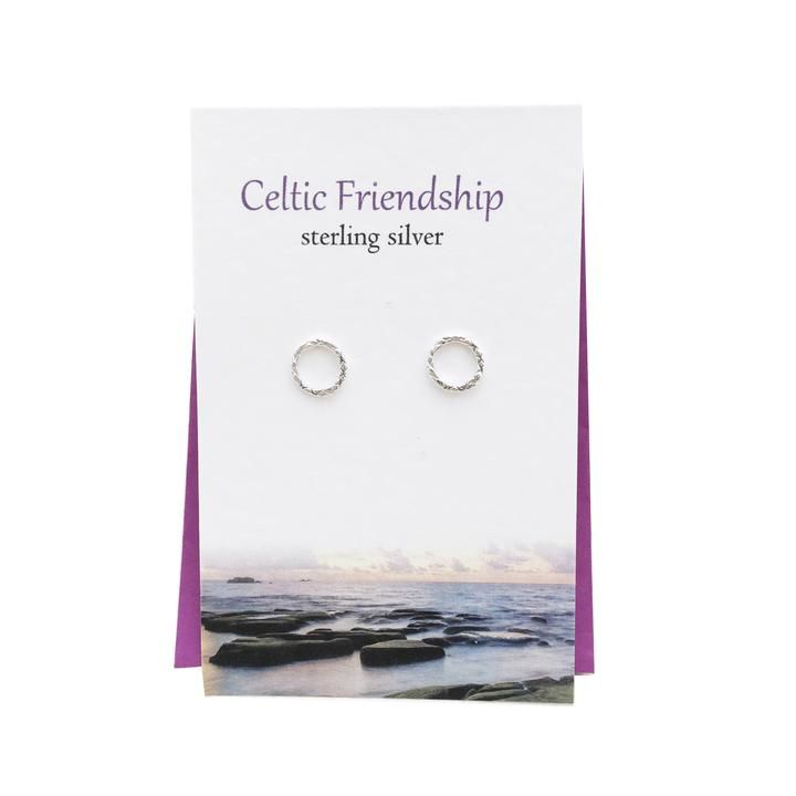 Silver Studio - Celtic Friendship Stud Earrings - Coorie Doon