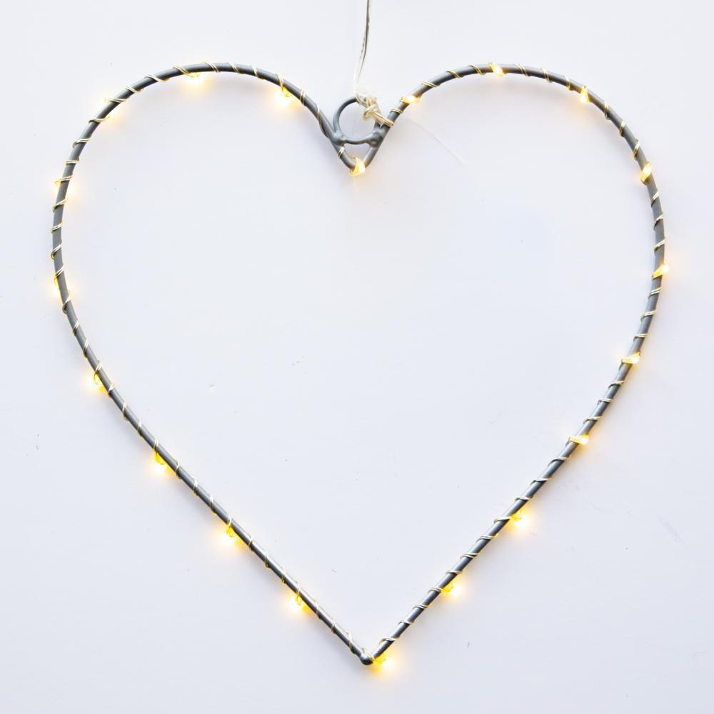 Silver Wire LED Heart - Coorie Doon