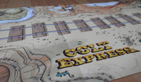 Close-up view of the tracks next to the Colt Express logo.