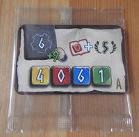 Front view of the 'A' new start card included in this Hadara mini expansion.