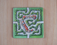View of the Labryinth (Classic Edition) tile for this Carcassonne mini expansion.