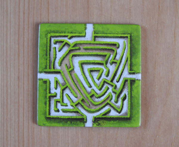 View of the Labyrinth (New Edition) tile included with this Carcassonne Mini Expansion.
