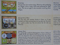 Close-up of the English rules on the card that is included.