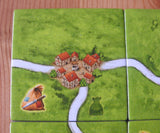 Close-up of another tile, this one showing three roads joining together at a small hamlet.