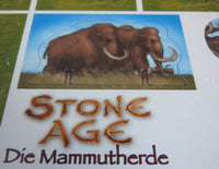 Close-up view of the mammoth herd piece. Scary!