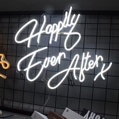 Happily ever after x neon sign