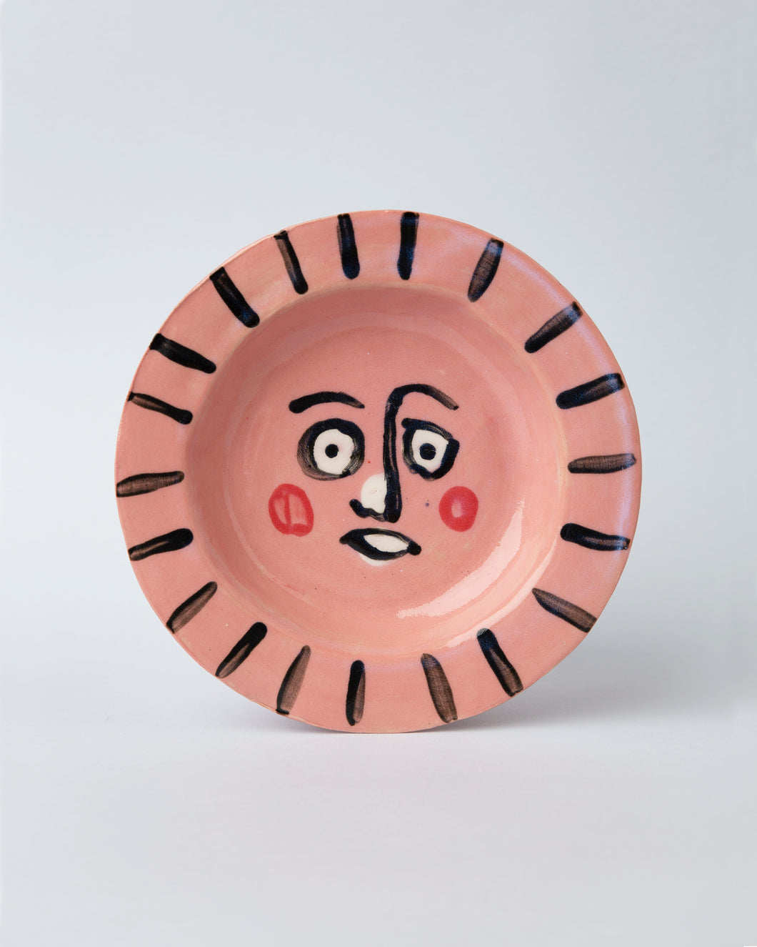 Pink Face Plate Bowl