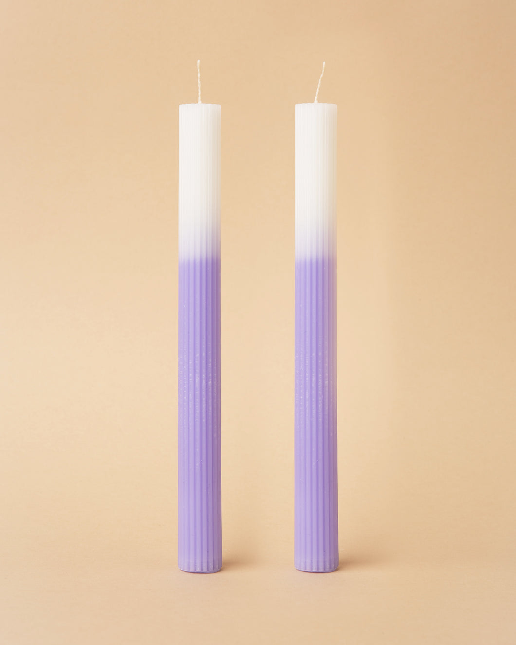 Lilac Ombre Dinner Candles