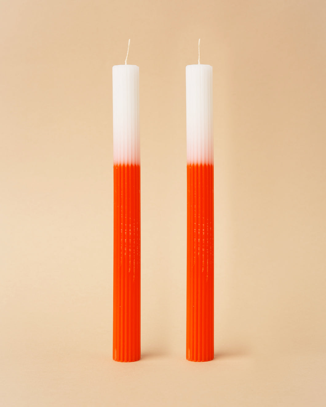 Orange Ombre Dinner Candles