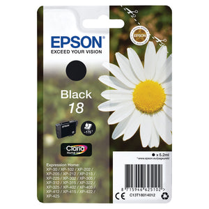 EPSON 18 BLACK INKJET CARTRIDGE