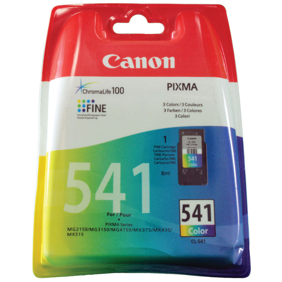 CANON CL-541 COLOUR INK CARTRIDGES CMY