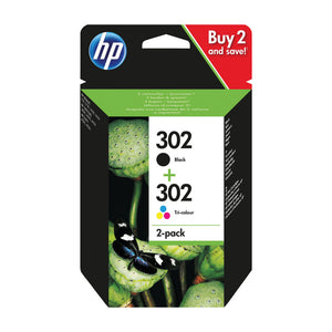 HP 302 INK CARTRIDGE COMBO BLK COL
