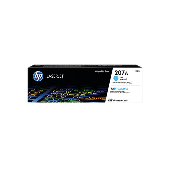 HP 207A LaserJet Toner Cartridge Cyan W2211A