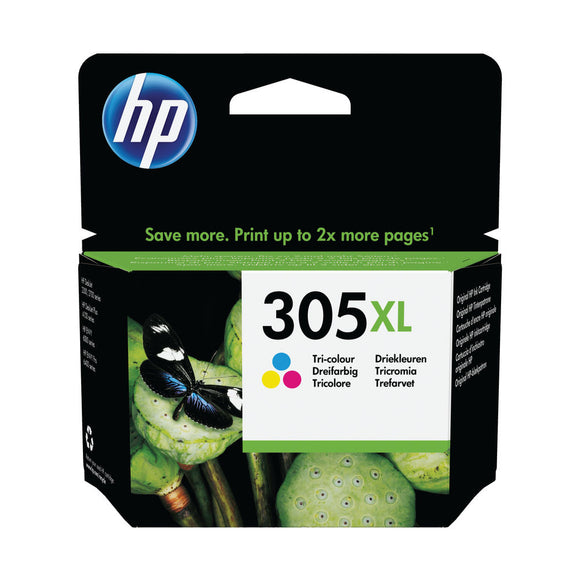 HP 305XL HY ORIGI INK CART 3 COLOUR