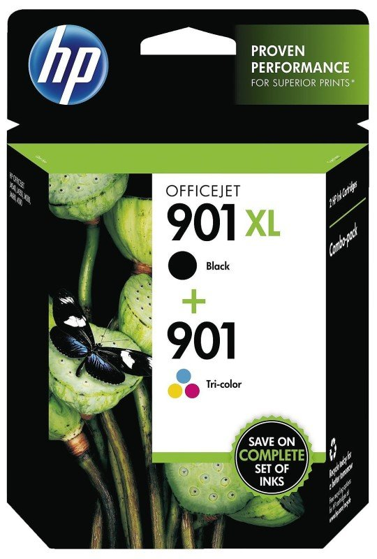 HP 901XL/901 INK CART COMBO BLK/TRICOL
