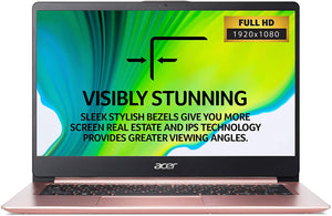 "Acer Swift 1 RG Intel Penti-N5000 4GB 128GB NVME Drive 14"" Inch Windows 10 Home Laptop [NX.GZLEK.004]"