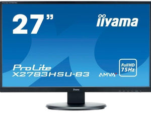 "IIyama 27"" Monitor with Built-in Speakers - Black"