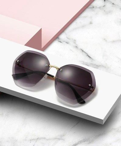 Vintage & Classic Designer Frameless Pilot Sunglasses for Women