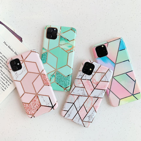 Luxury Premium Fine Marble Style Case for iPhone 11/12 Series