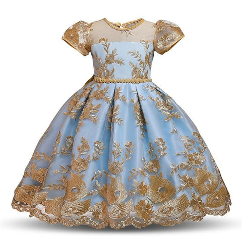 Elegant Princess Flower Dress for Girls 4-10Y - Yesy All Goods