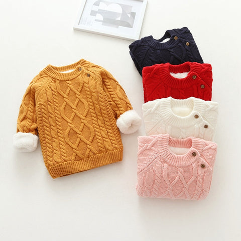 Winter Warm Classic Thick Sweater for Kids & Babies 6M - 5Y