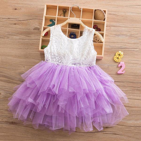 Summer Party Beautiful Tutu Princess Dress Sleeveless for Baby Girls 1-7Y - Yesy All Goods