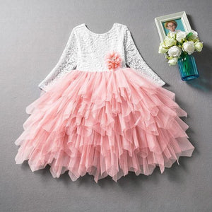 Summer Party Beautiful Tutu Princess Dress Long Sleeve for Baby Girls 1-7Y - Yesy All Goods