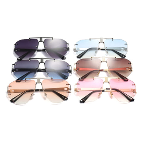 Unisex Coolest Gradient Pilot Style Fashion Sunglasses