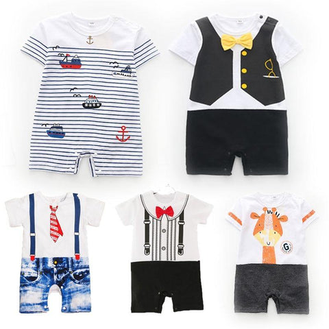 Super Cute Business Suit Pretended Rompers for Babies - Yesy All Goods