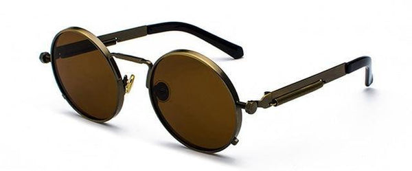Vintage and Retro Round Shape Sunglasses Alloy Frame for Women - Yesy All Goods