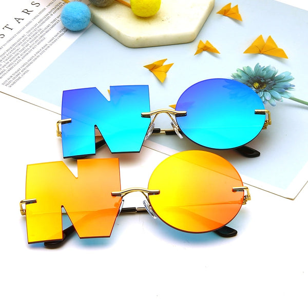 "Unique Fashionable Luxy Letter ""NO"" Sunglasses for Women"