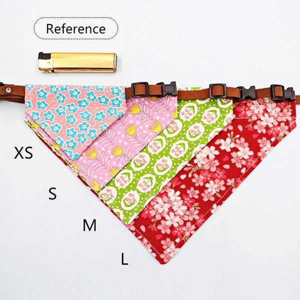 Adjustable Dog Necklace Scarf Shaped Collars Bandanas - Yesy All Goods