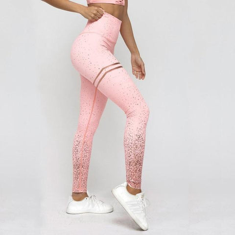 Gym & Fitnese Legging Tight with Foil Print Without Transparent Metallic for Women - Yesy All Goods