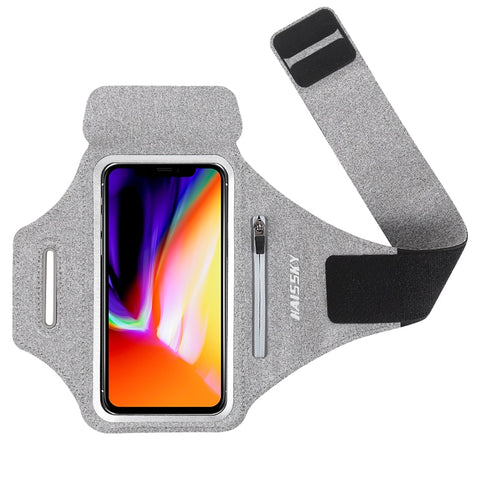 Fitness & Sport Running Armband Case with Zipper Pocket for Mobile Phone Size upto 6.9inch