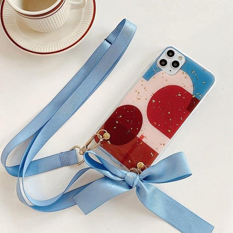 Fashionable Luxy Crossbody Case with Strap for iPhone 11/12 Series - Yesy All Goods