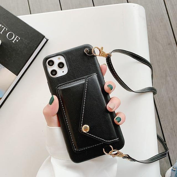 Crossbody Strap Wallet & Card Holder Case for iPhone 12 Series - Yesy All Goods