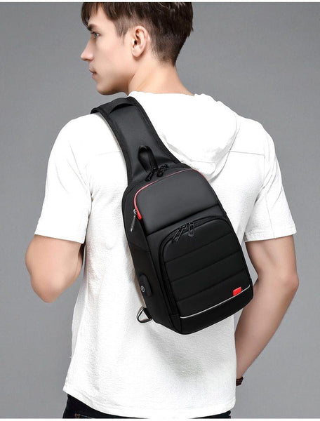 Casual Classic Black Multi-functional Crossbody Bag for Men - Yesy All Goods