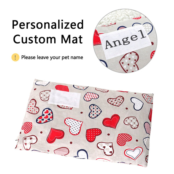 Personalized Washable And Wame Pet Bed Mat