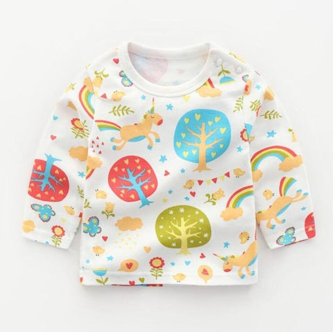 Cutie Cartoon Refreshed Long Sleeve Tee for Kids & Babies 12M - 5Y