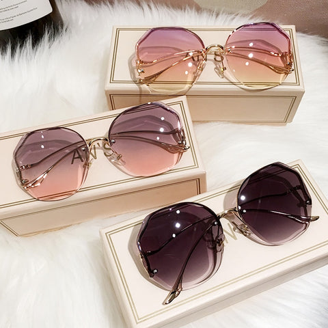Desginer Rimless Premium Sunglasses for Women
