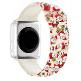 Christmas Cartoon Printed Band For AppleWatch-Santa Claus