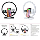 4 in 1 Wireless Bedside Lamp Charger Dock