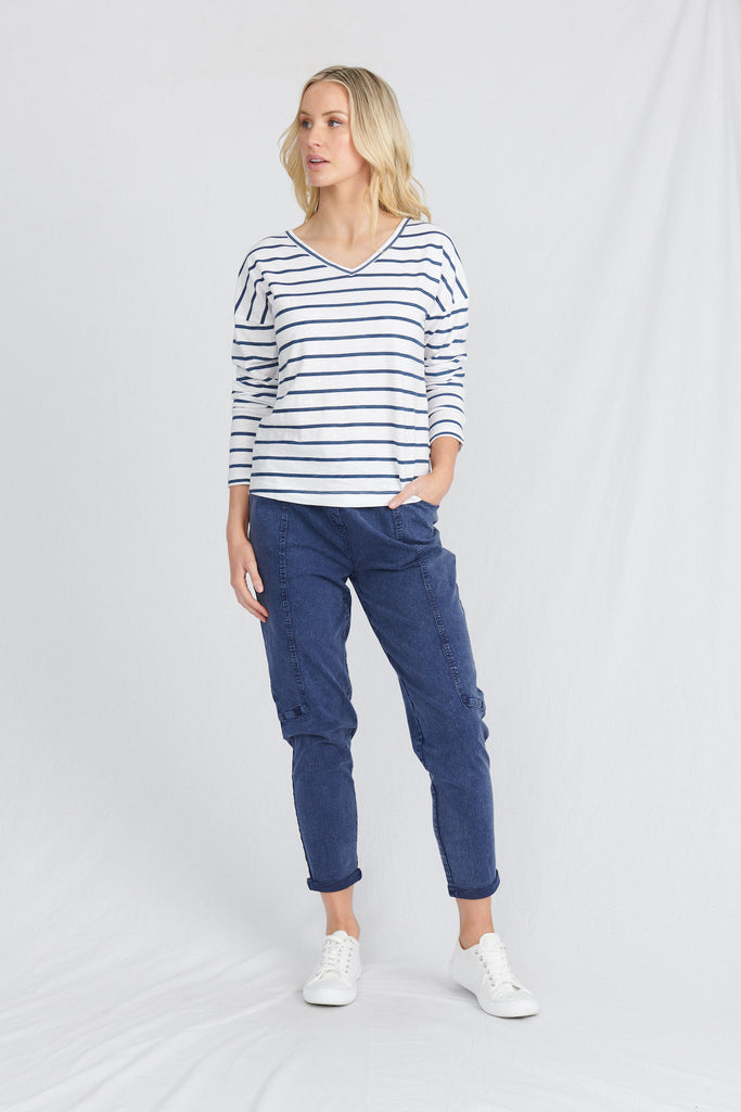 womens sustainable loungewear top, made from organic cotton