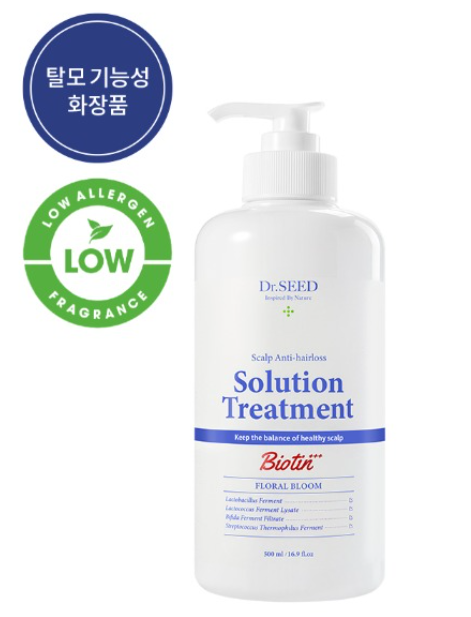 Dr. Seed Scalp Anti-Hairs Solution Treatment 500ml Floral Bloom