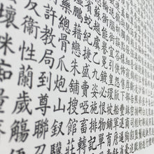 Load image into Gallery viewer, Traditional letterpress A3 Chinese Kaiti type specimen poster