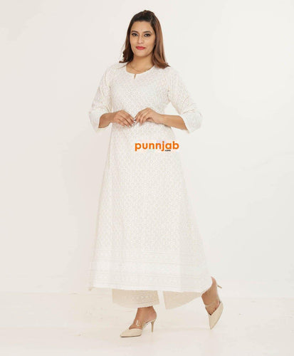 Anarkali Dress - Punnjab Phulkari