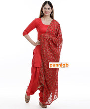 Load image into Gallery viewer, Red Kanchan Dupatta - Punnjab Phulkari