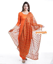 Load image into Gallery viewer, Orange Kanchan Dupatta - Punnjab Phulkari